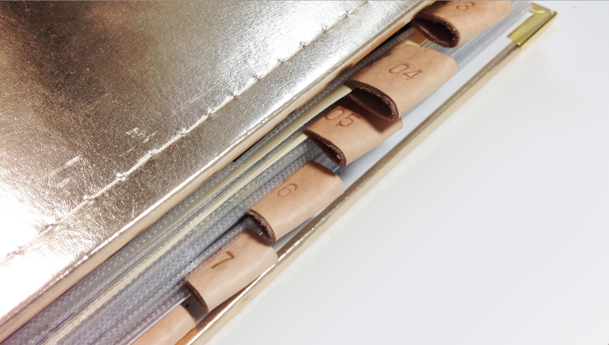 2015 FAVORITE BLOG POSTS NO. 4 - LEATHER STAMPED PROJECT LIFE DIVIDERS | THE PAPER CURATOR