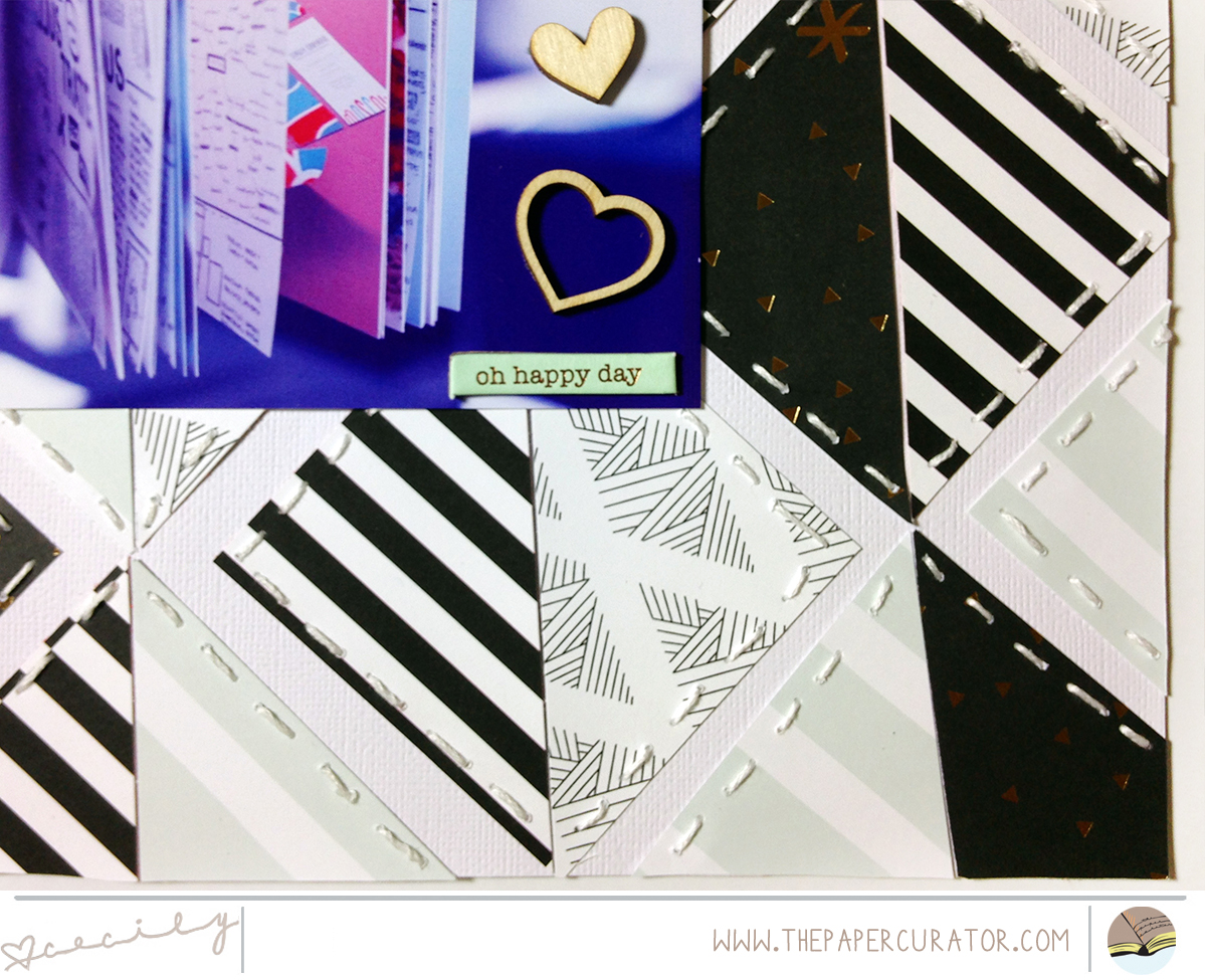 """Layered Pattern Paper with Scrapbook Layout 'Dream"""" 