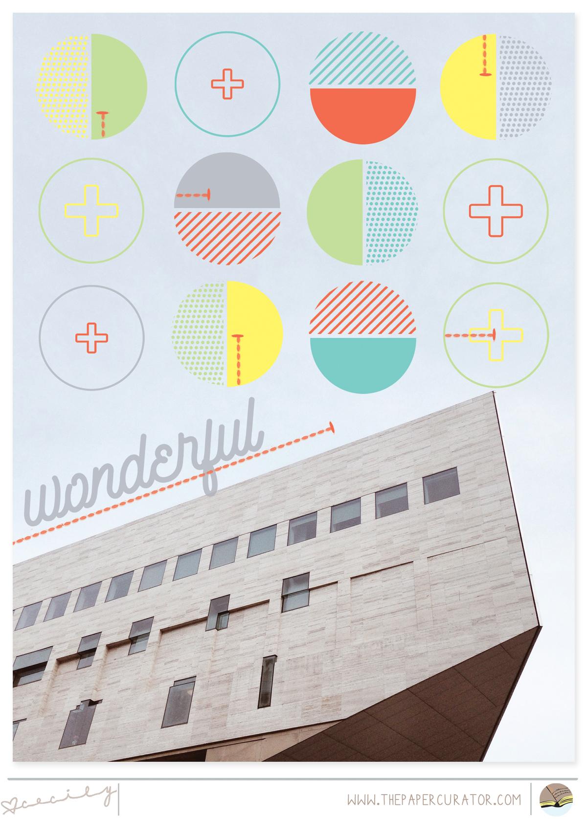 'WONDERFUL' SCRAPBOOK LAYOUT | THE PAPER CURATOR