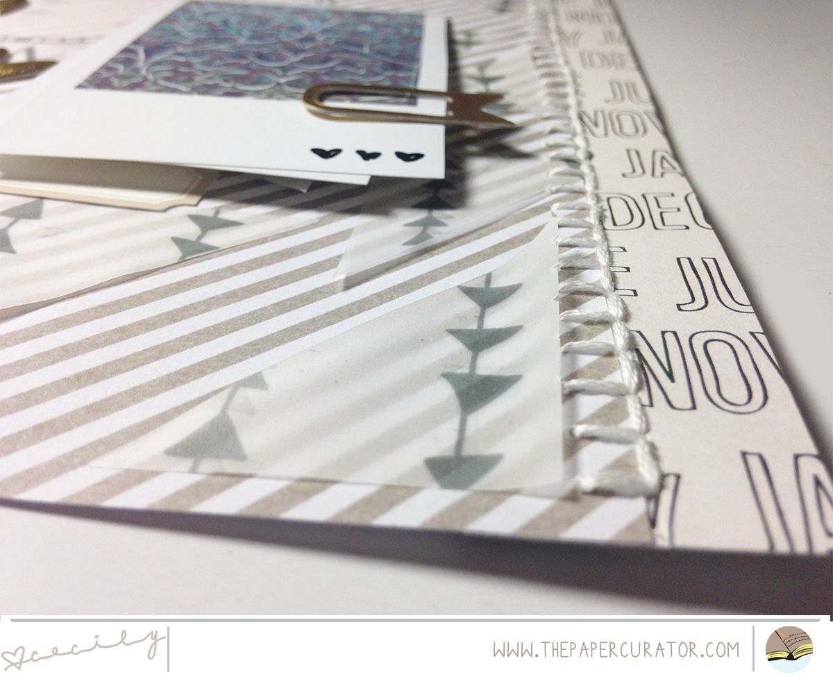 HYBRID LAYOUT USING 'GOLDEN NIGHTS' COLLECTION FROM TEAL LIME PRESS | THE PAPER CURATOR