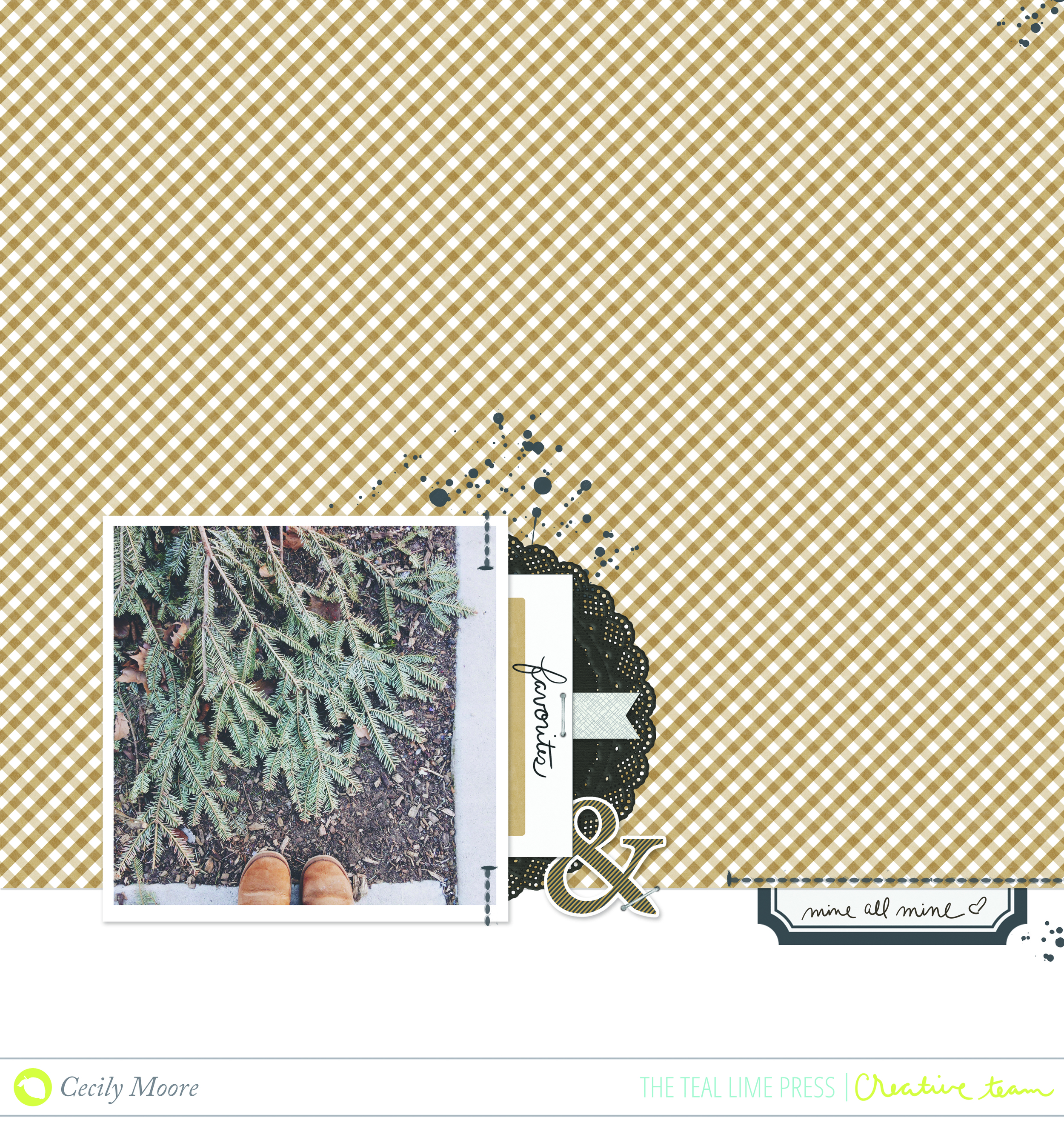 WEEKLY PAGE SKETCH WITH 'FAVORITE' SCRAPBOOK LAYOUT | THE PAPER CURATOR