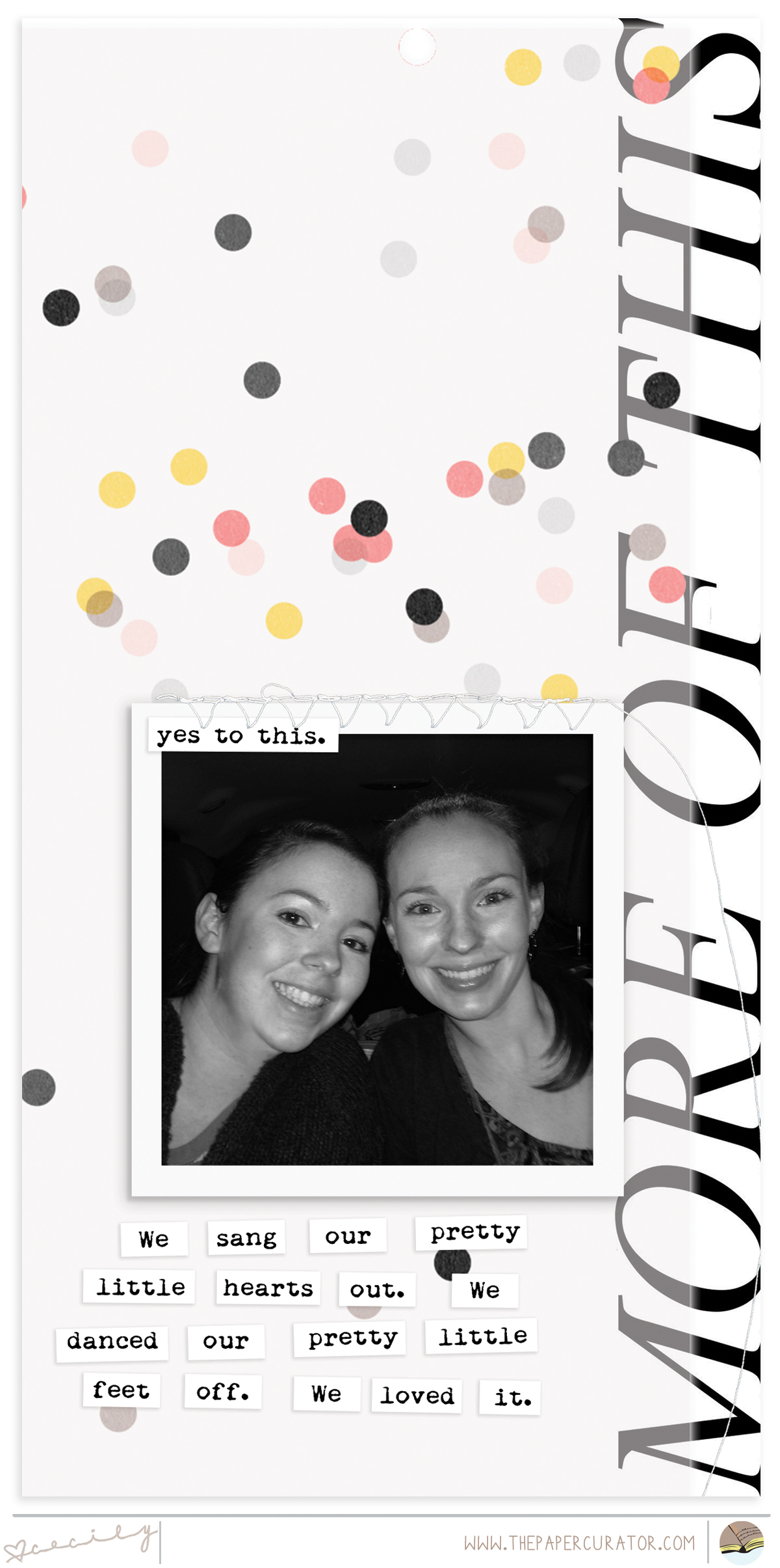 FAST + FABULOUS SCRAPBOOK LAYOUT   THE PAPER CURATOR