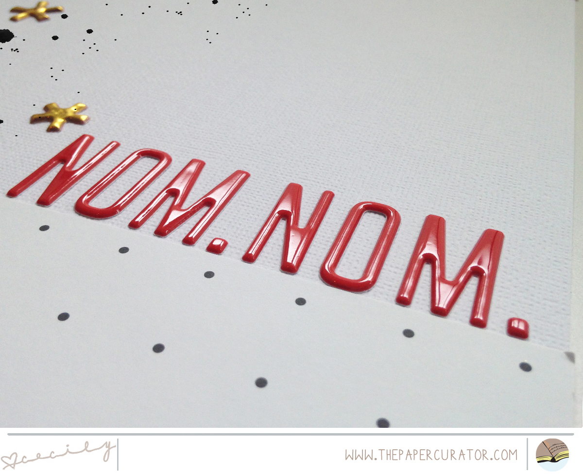 'NOM. NOM.' SCRAPBOOK LAYOUT | THE PAPER CURATOR
