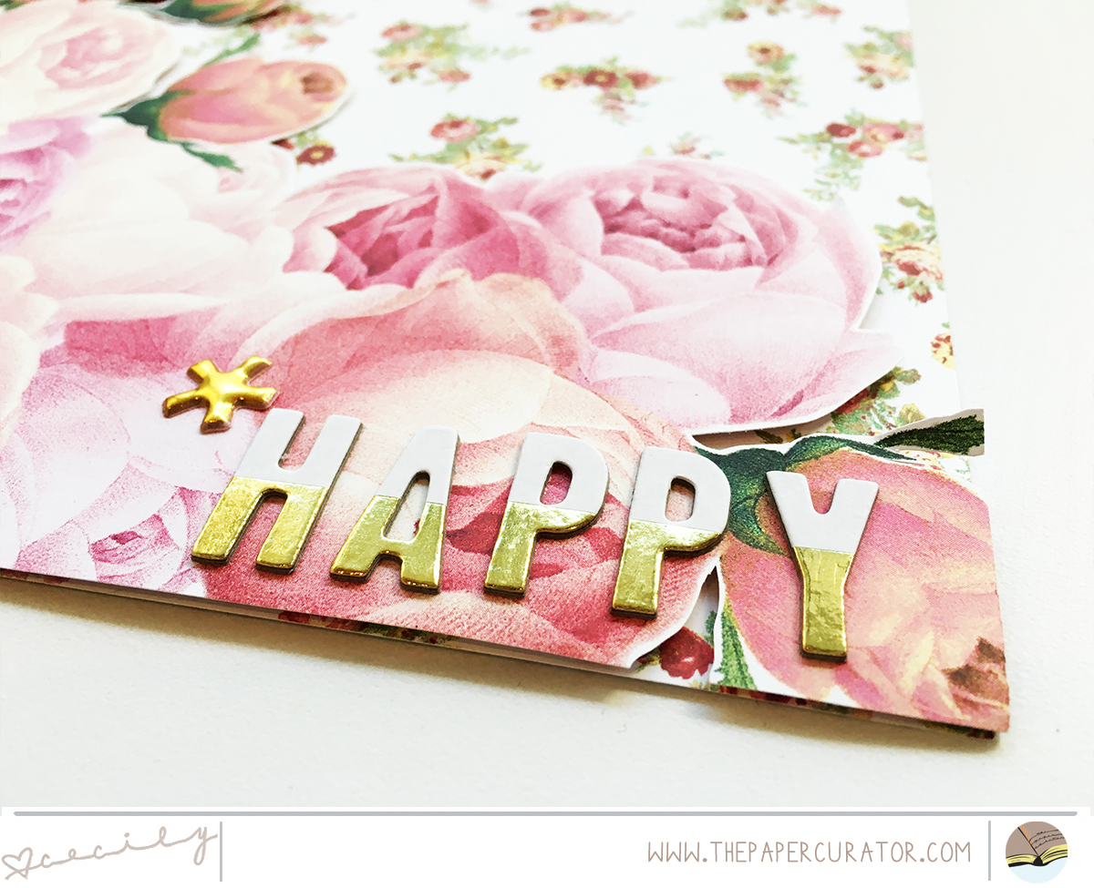 SUNDAY SKETCH SERIES NO. 50 WITH 'HAPPY' SCRAPBOOK LAYOUT   THE PAPER CURATOR