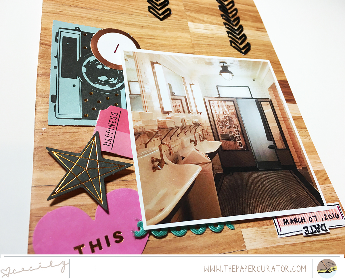 SUNDAY SKETCH SERIES NO. 52 WITH 'EAT' SCRAPBOOK LAYOUT   THE PAPER CURATOR