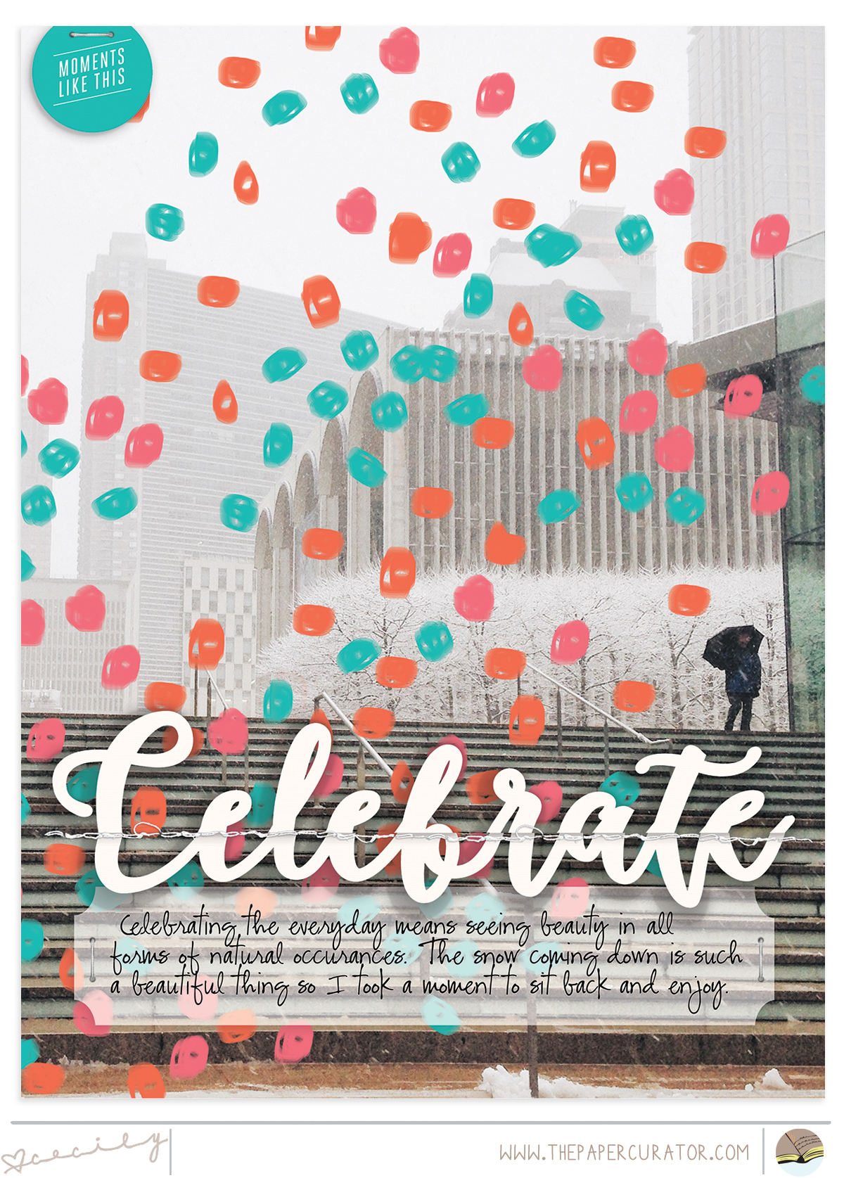 Sunday Sketch Series No. 53 with 'Celebrate' Scrapbook Sketch | The Paper Curator