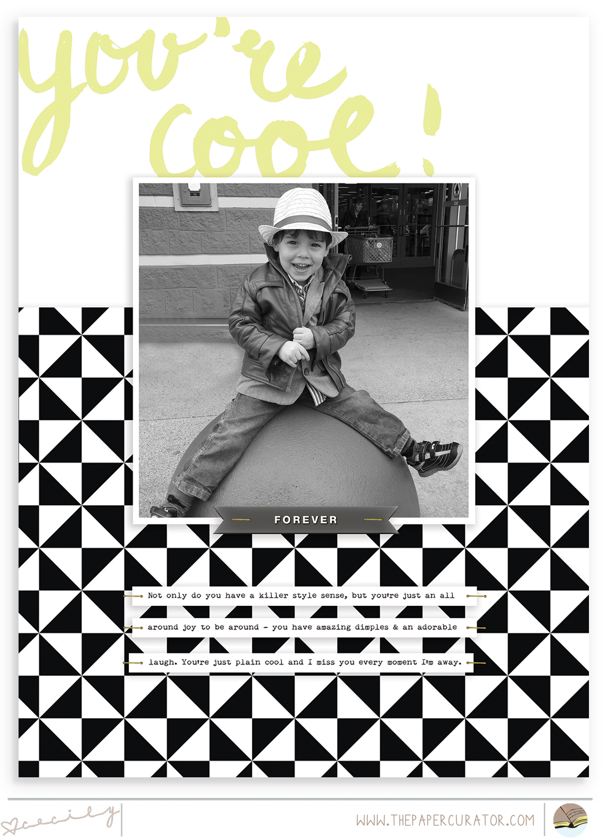'You're Cool' Scrapbook Layout | The Paper Curator