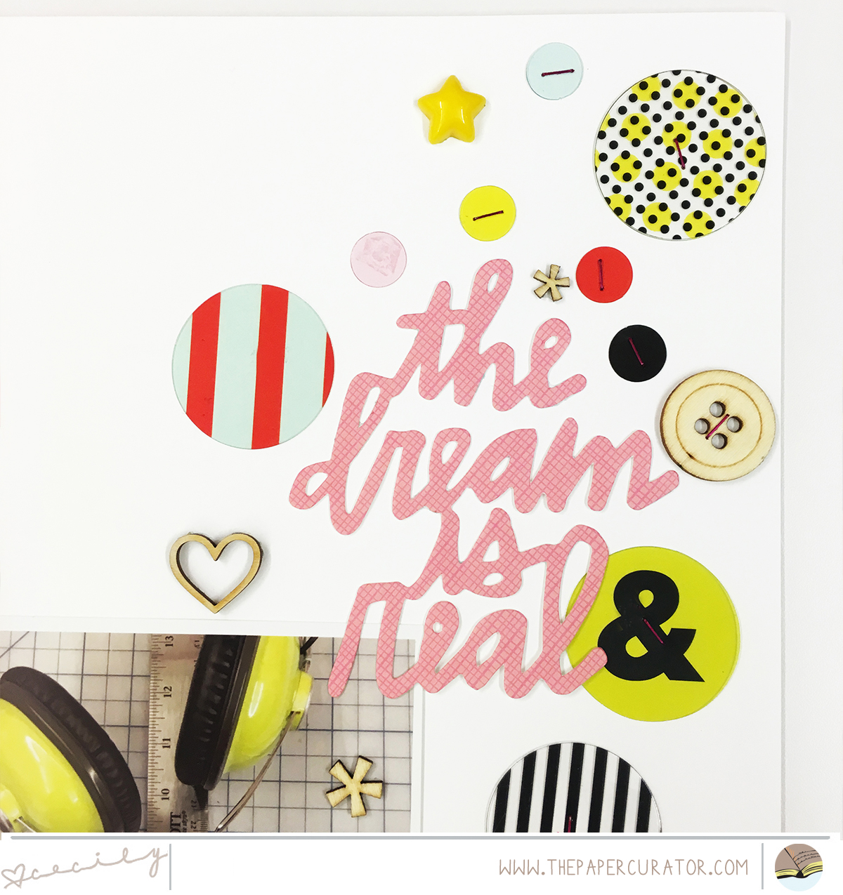 """""""The Dream is Real"""" Scrapbook Layout   The Paper Curator"""