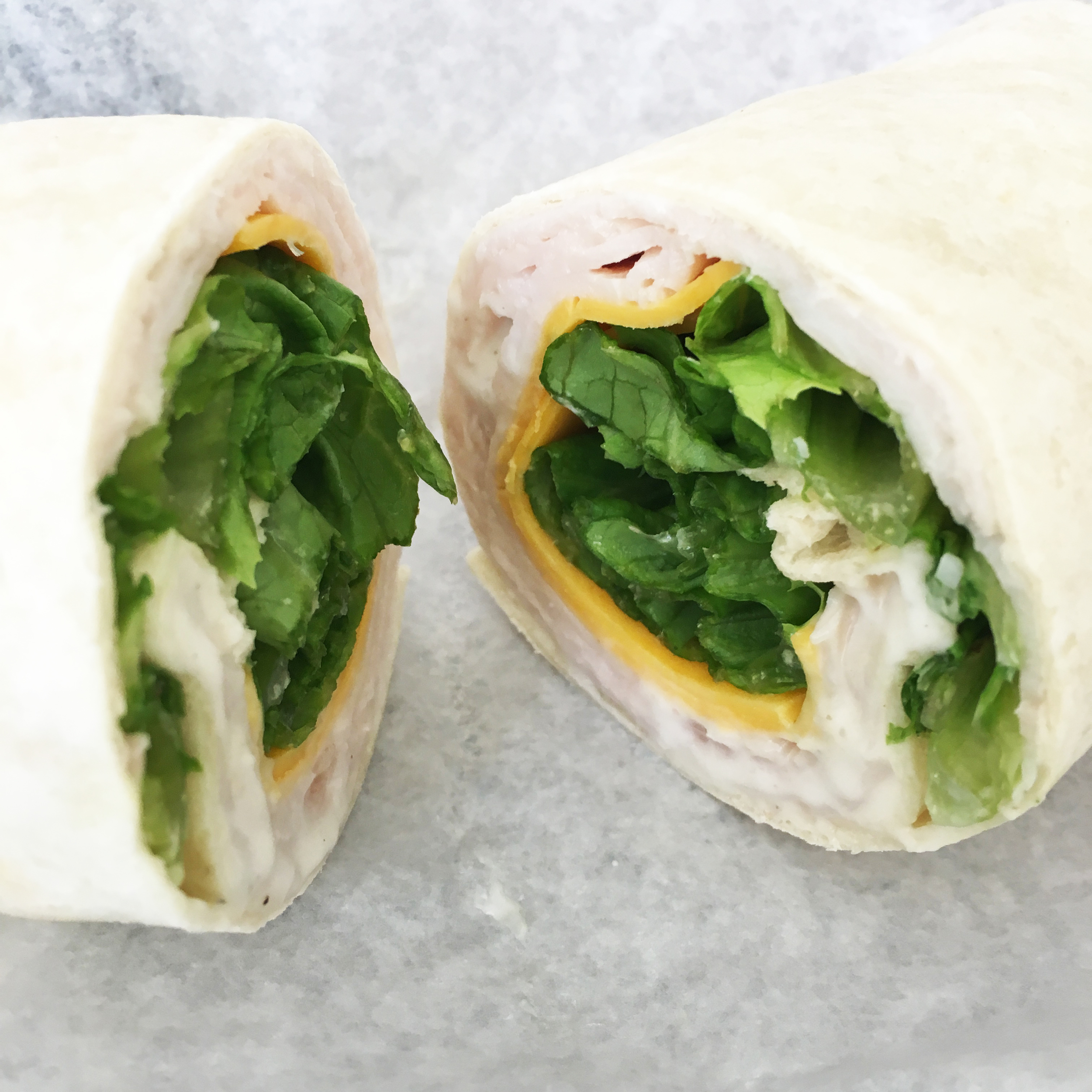 Trying to make better decisions at lunch means a basic wrap - at least it's not pizza ... today.
