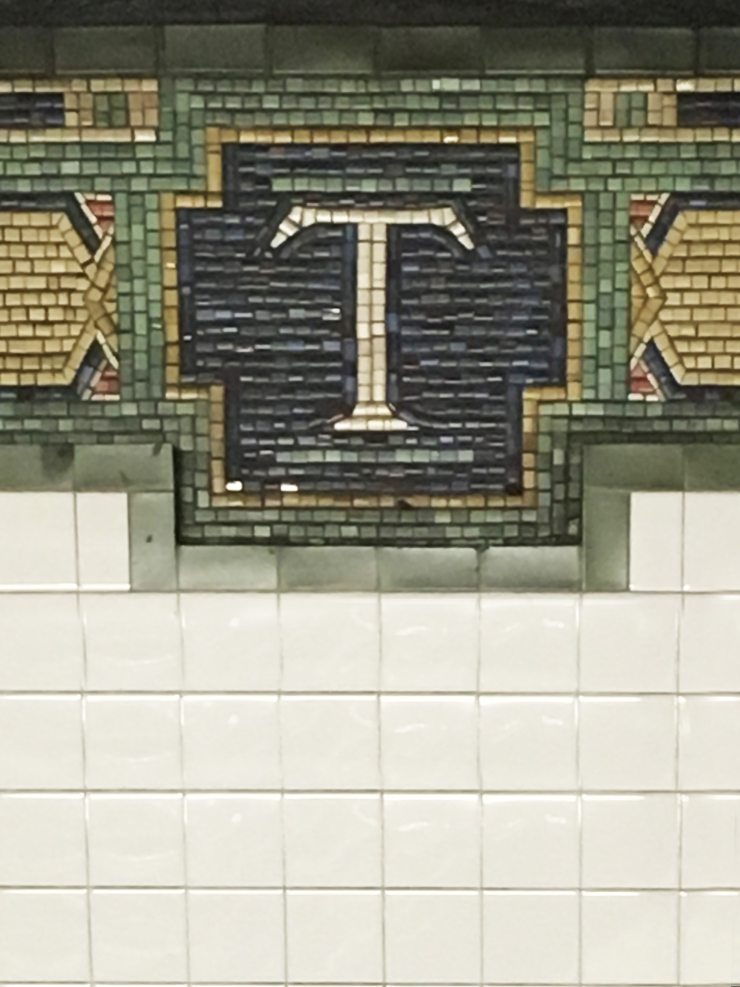 The beautiful tile work in all the subway stations always makes me wonder how long it took them to make and why we don't value craftsmanship like that anymore