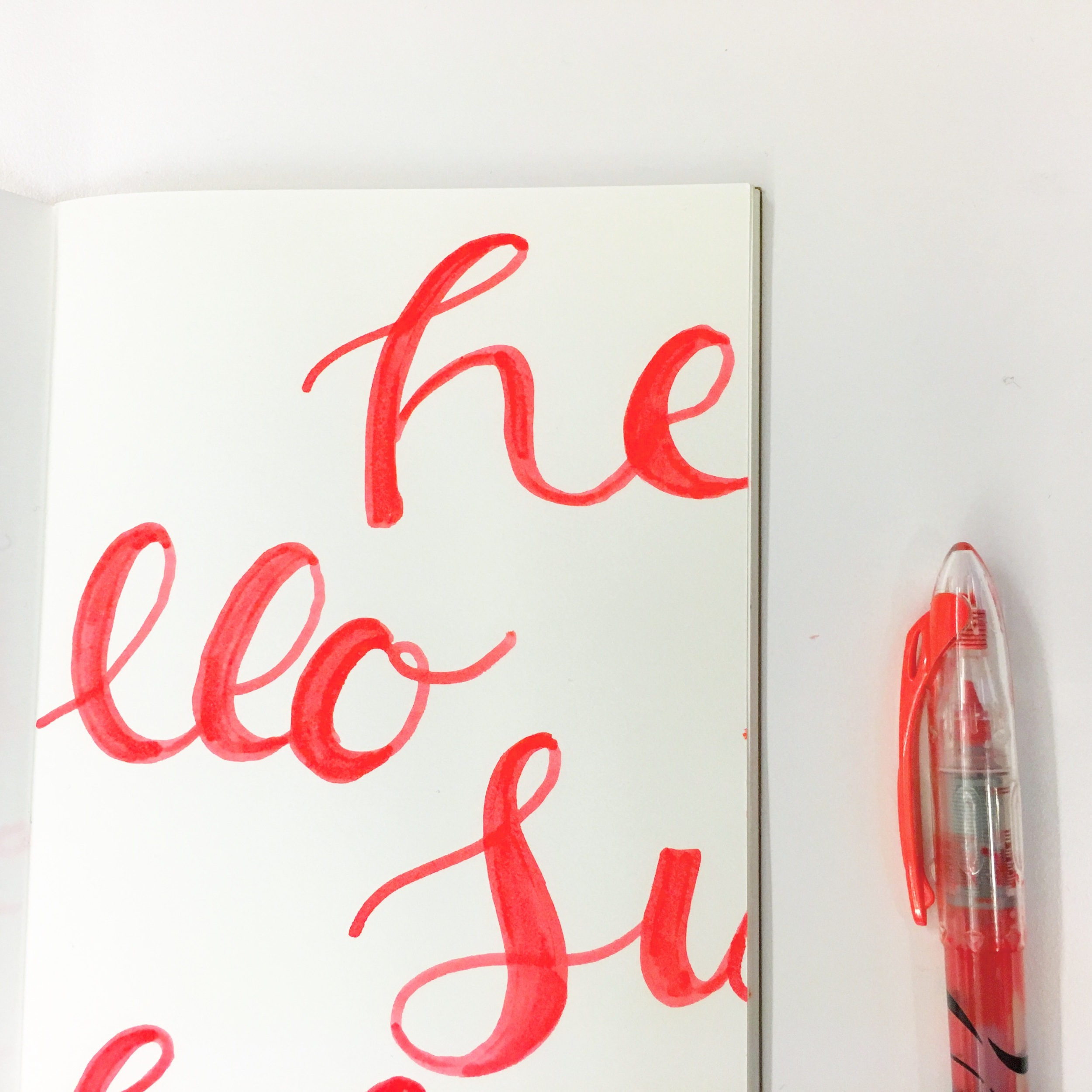 A little slow time in the office today means working out some calligraphy ideas and broken type inspirations