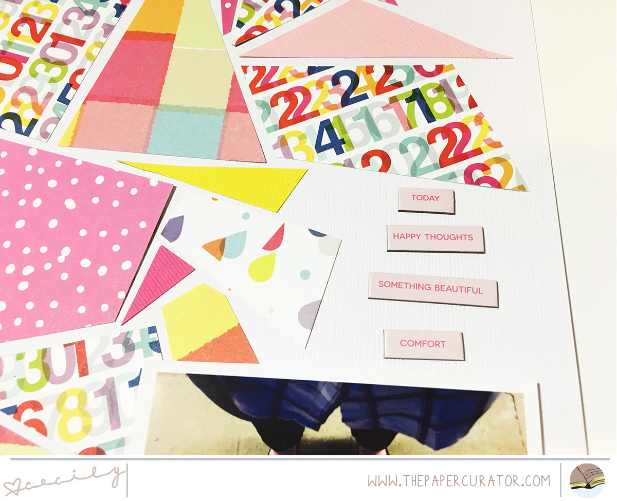 Quilted background with 'Sunshine' scrapbook layout | The Paper Curator