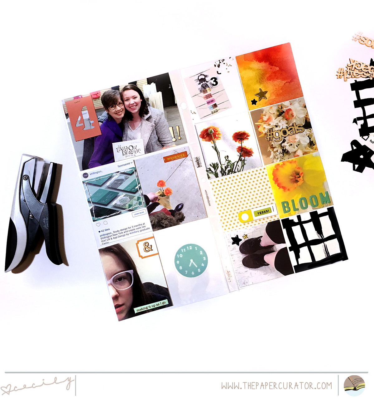 July Kit Sneaks with a Project Life Layout | The Paper Curator