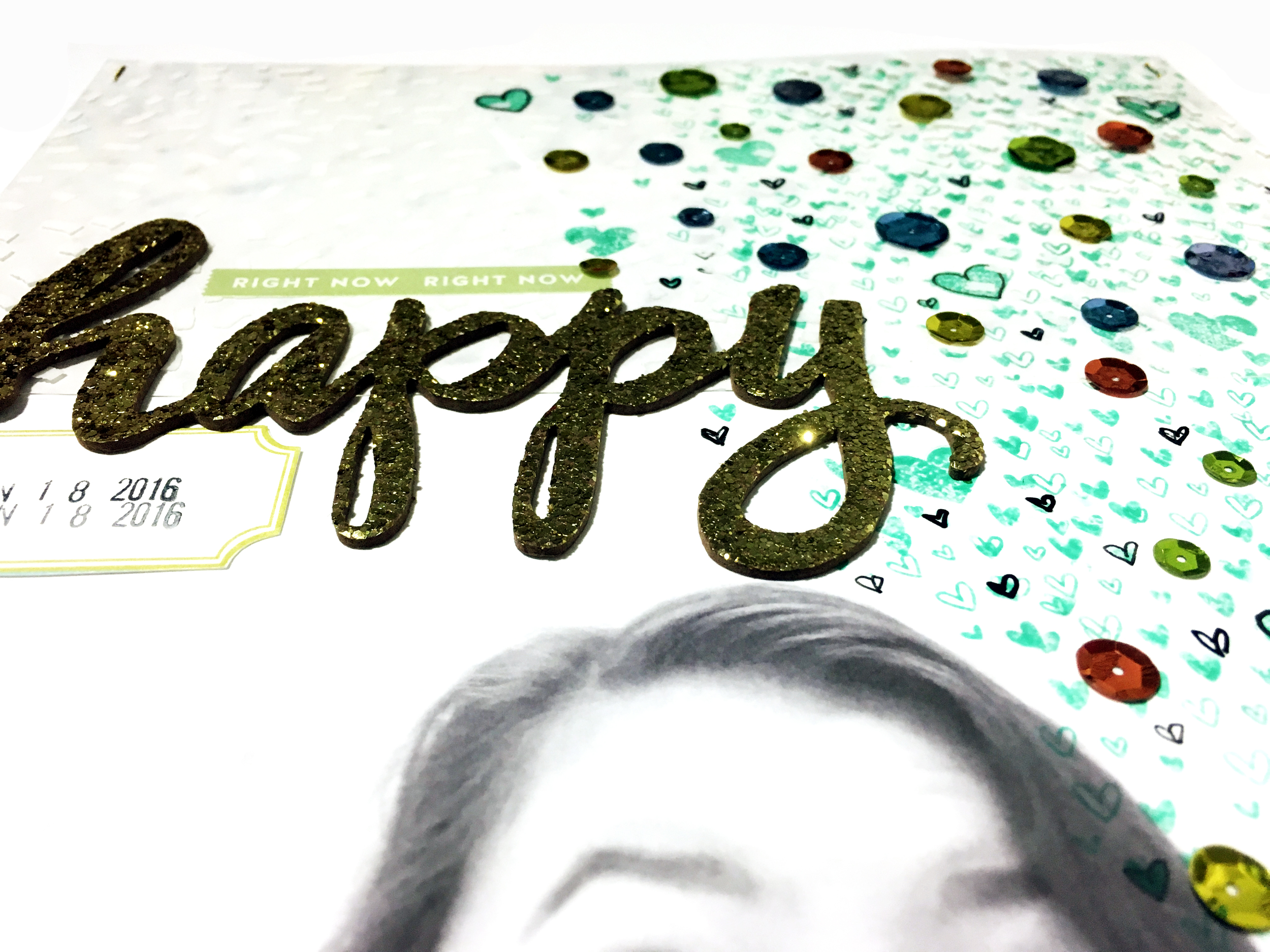 'Happy Right Now' Scrapbook Layout | The Paper Curator