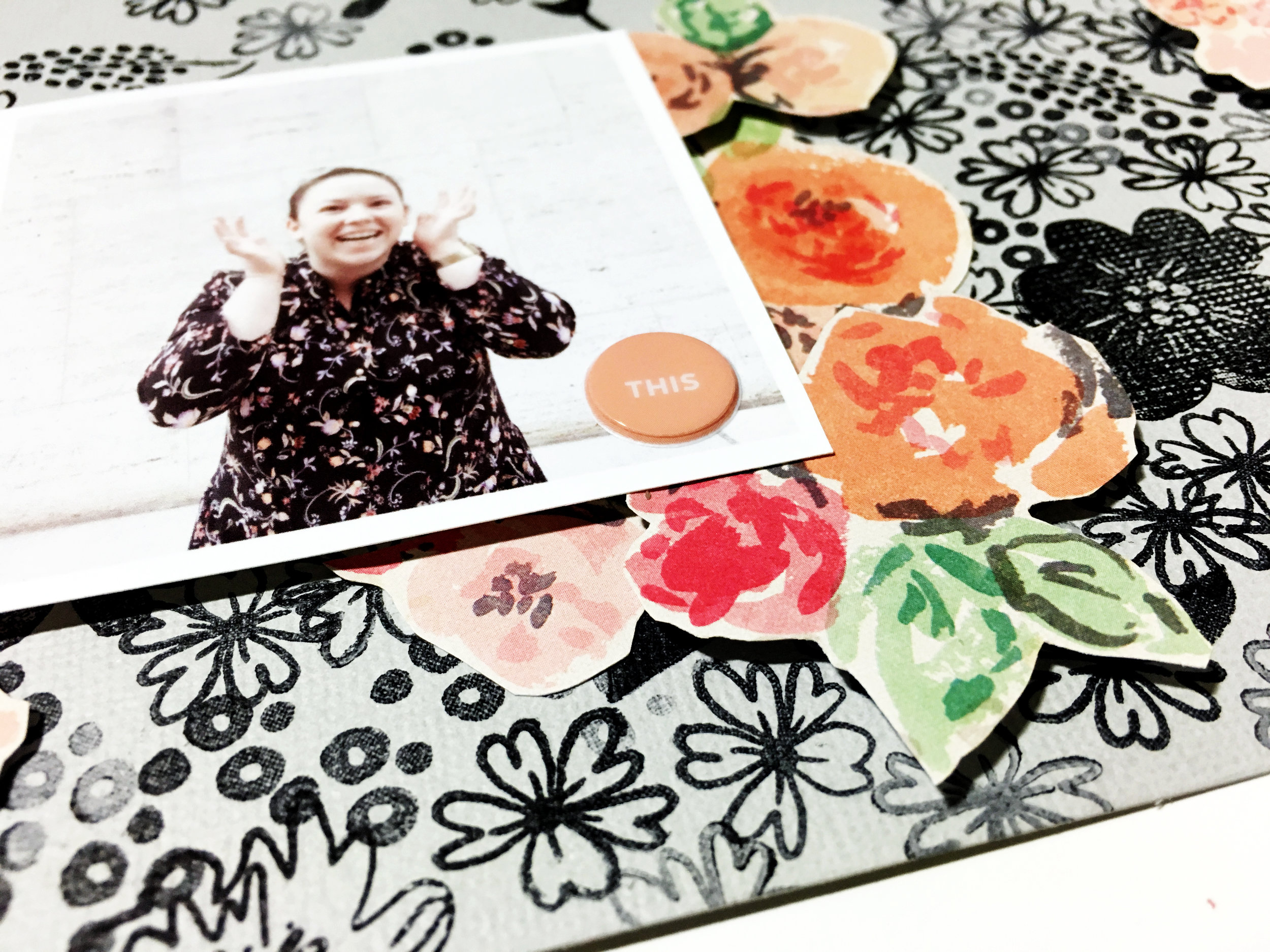 'Bloom' Scrapbook Layout | The Paper Curator