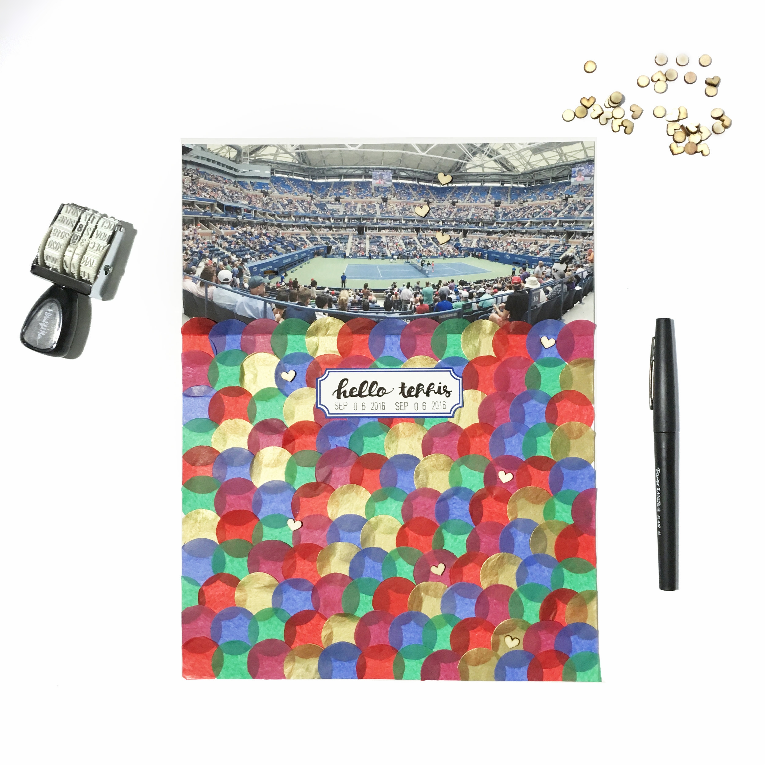 'Hello Tennis' Scrapbook Layout | The Paper Curator
