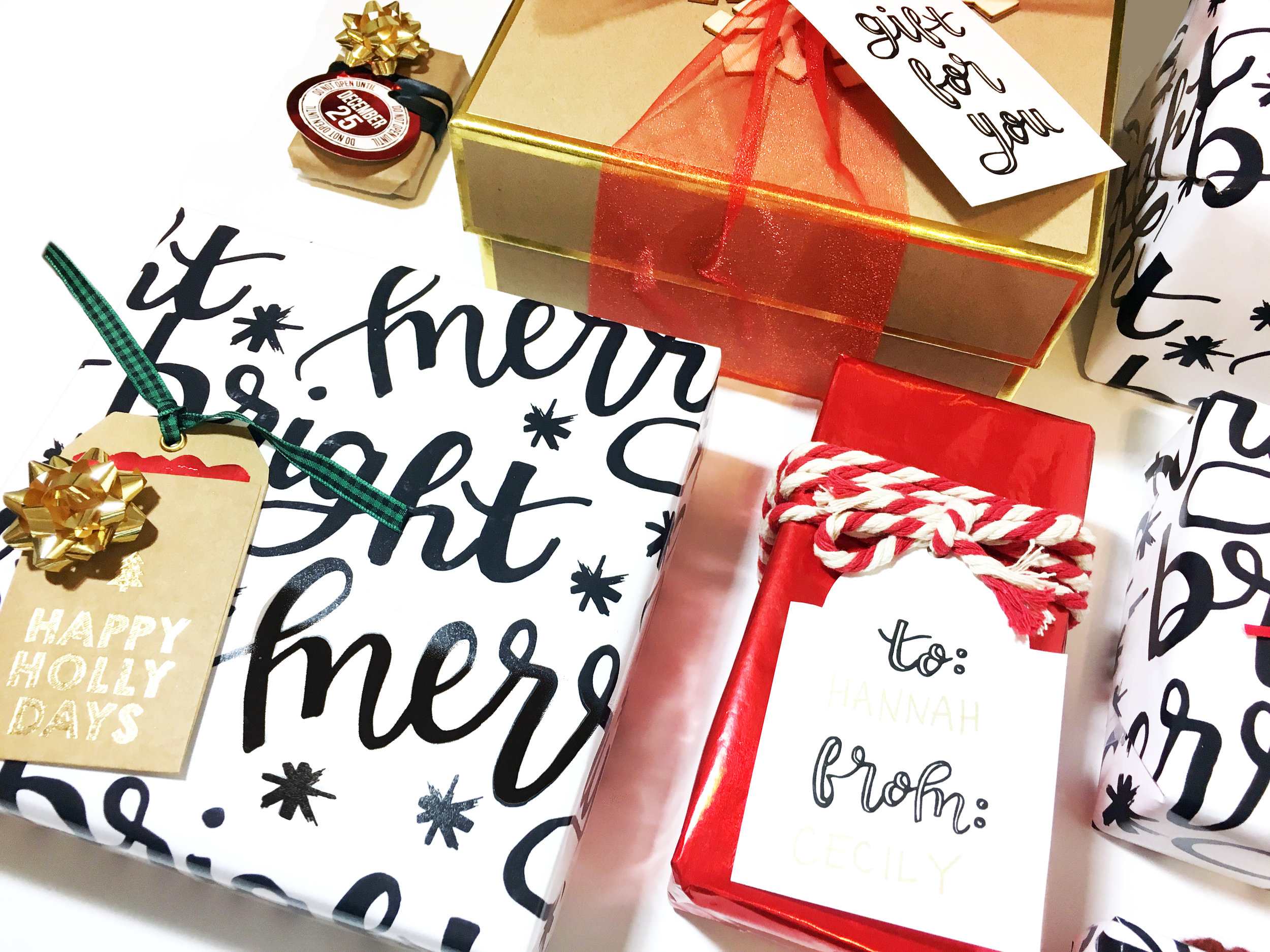 Custom Wrapping Paper + Freebie | The Paper Curator