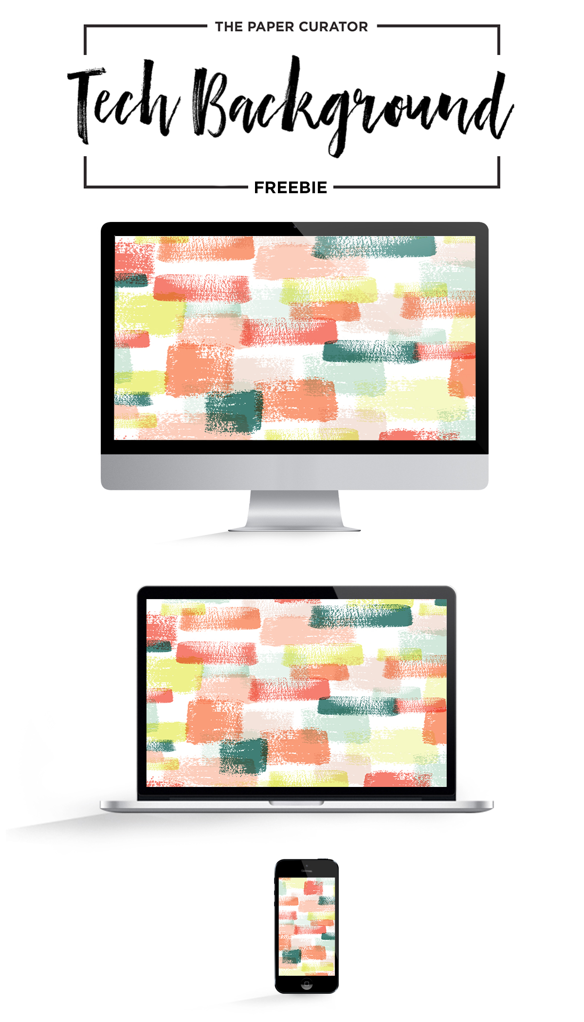 February Freebie Tech Backgrounds   The Paper Curator
