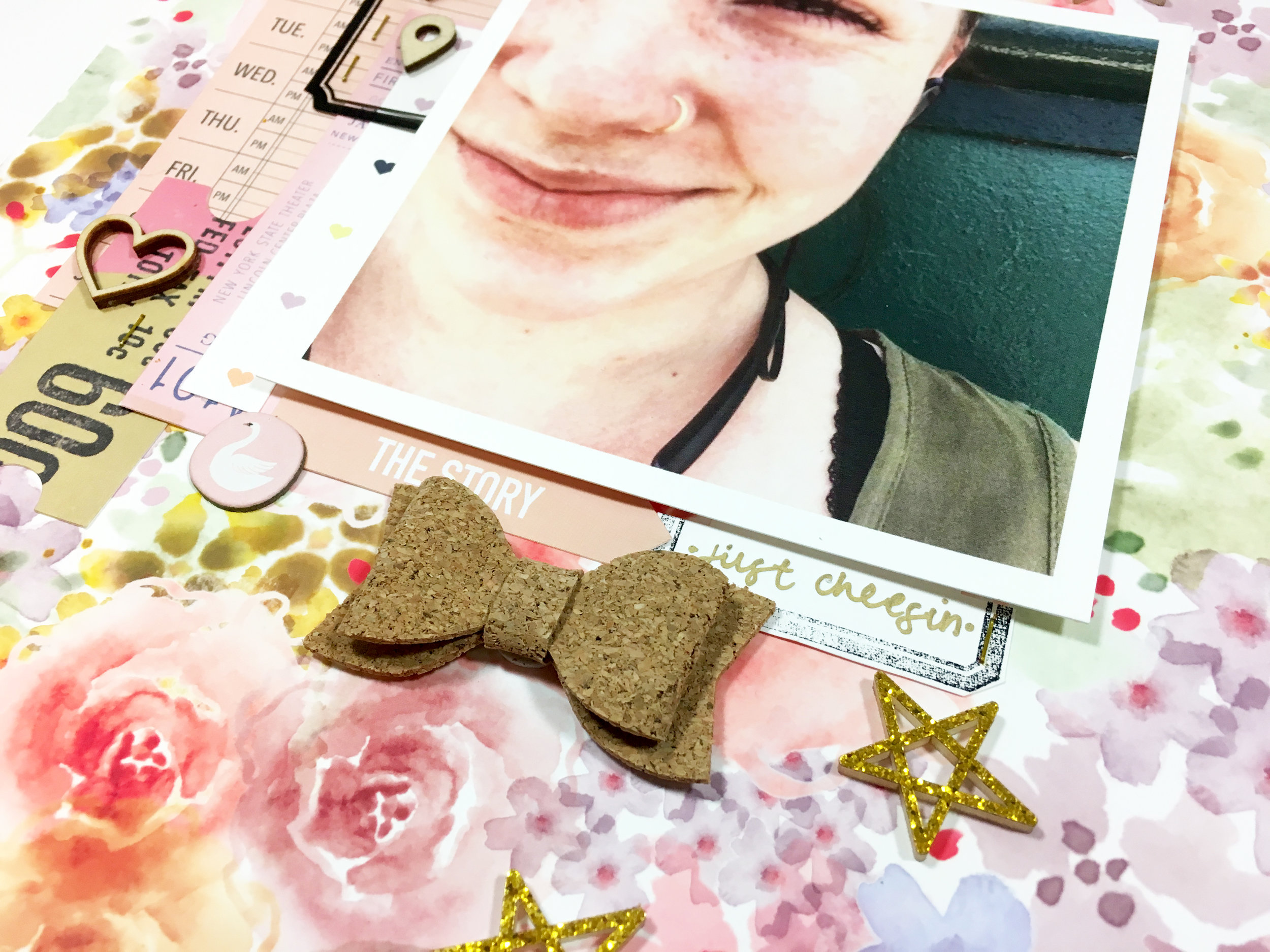 'Too Happy' Scrapbook Layout | The Paper Curator