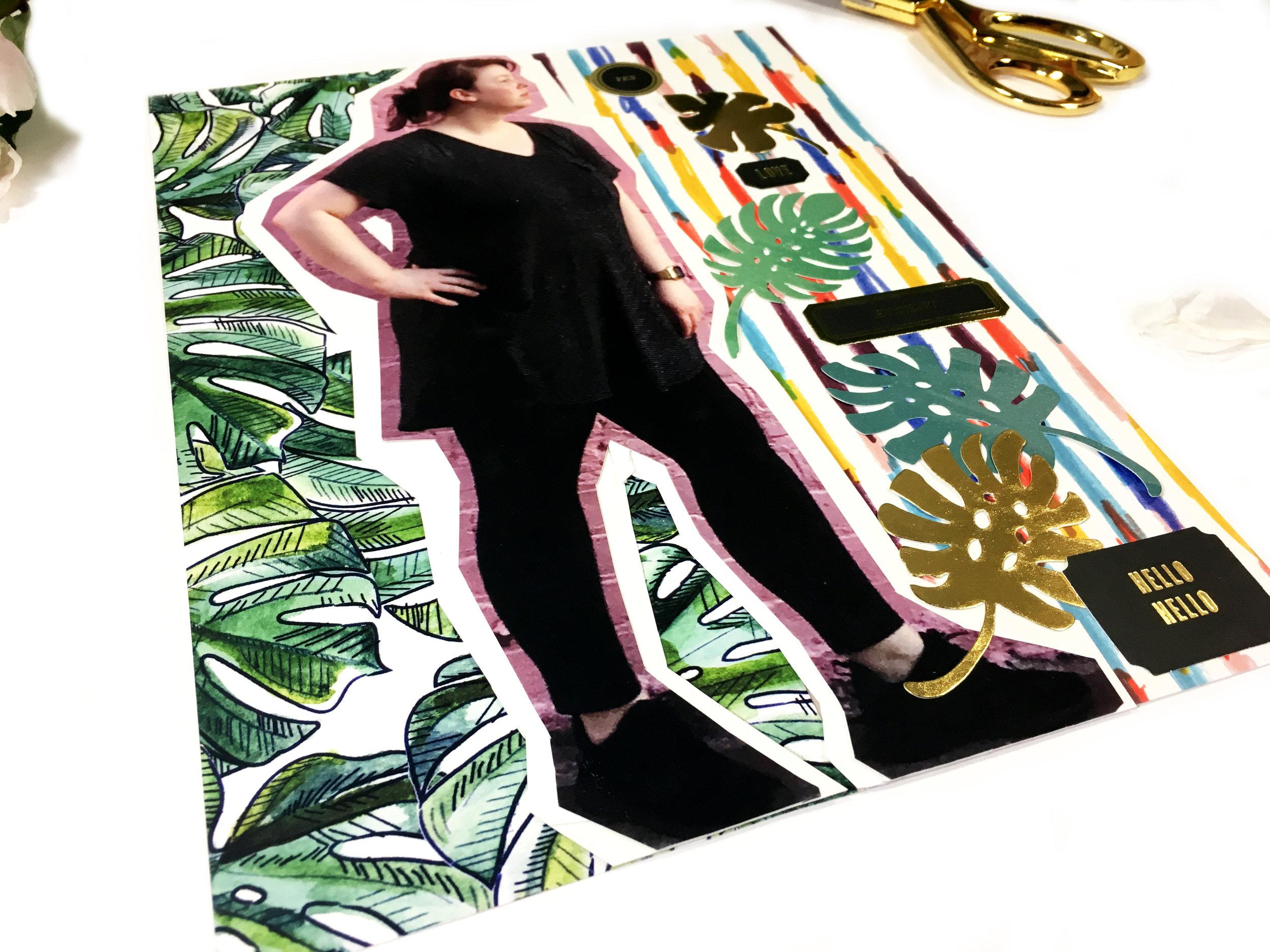 June Kit Sneaks–Scrapbook Layout | The Paper Curator