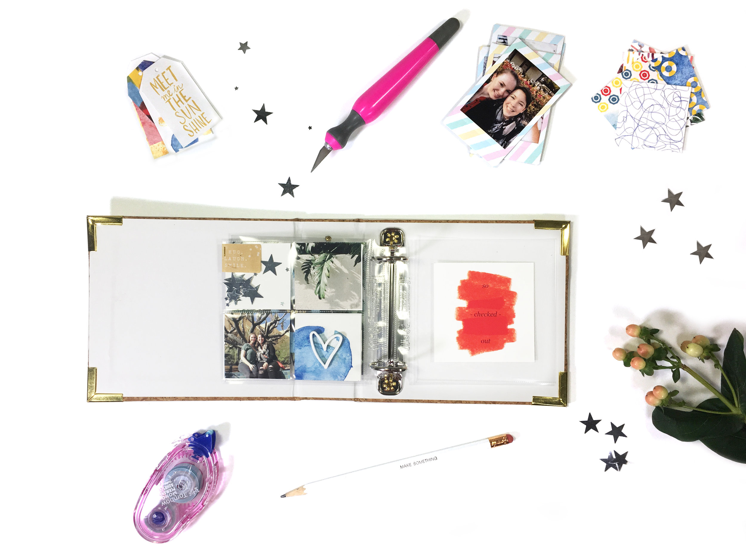 June Kit Sneaks–Mini Album Pages | The Paper Curator