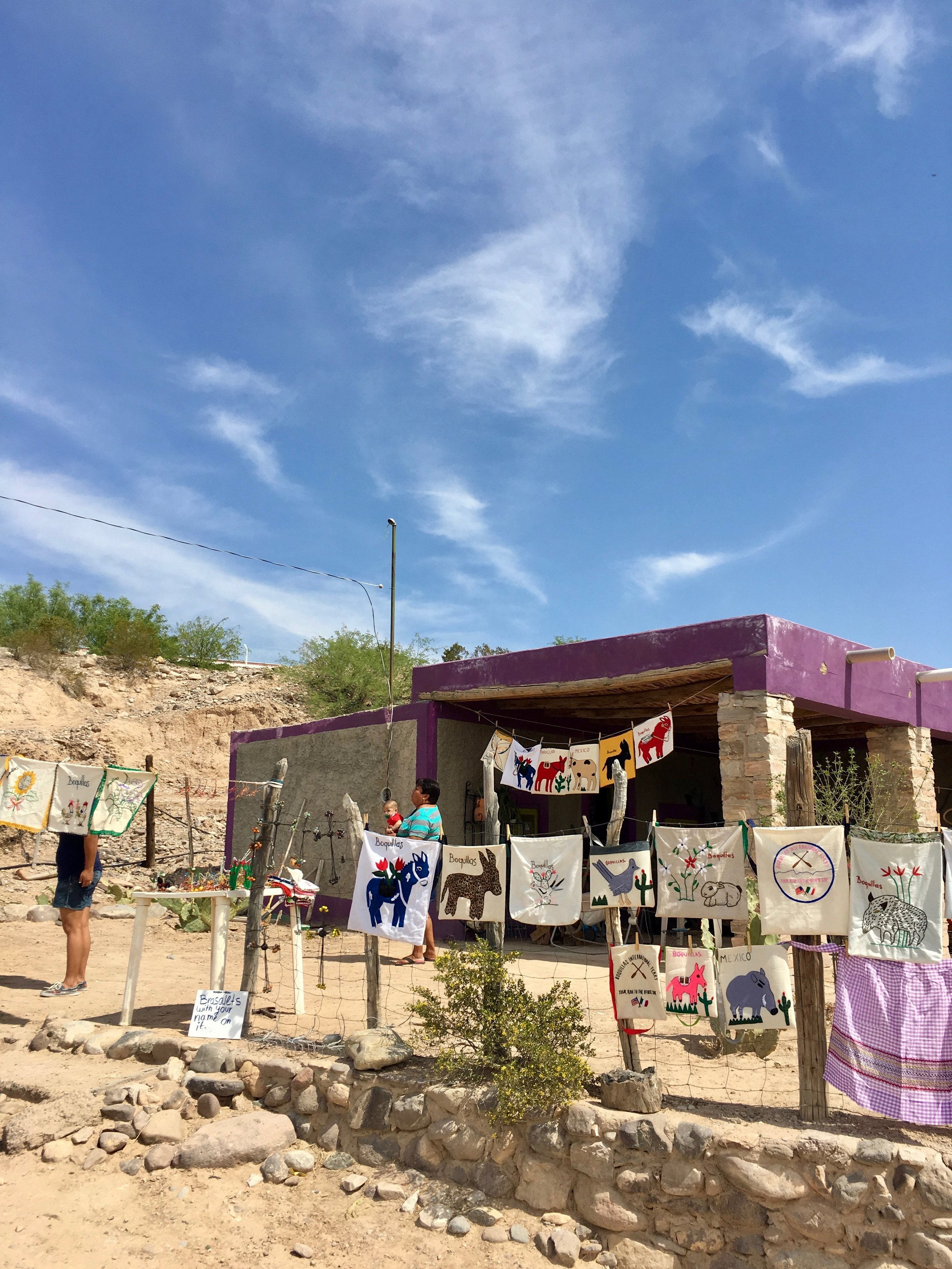 Boquillas is a tourist town and these are its souvenirs.