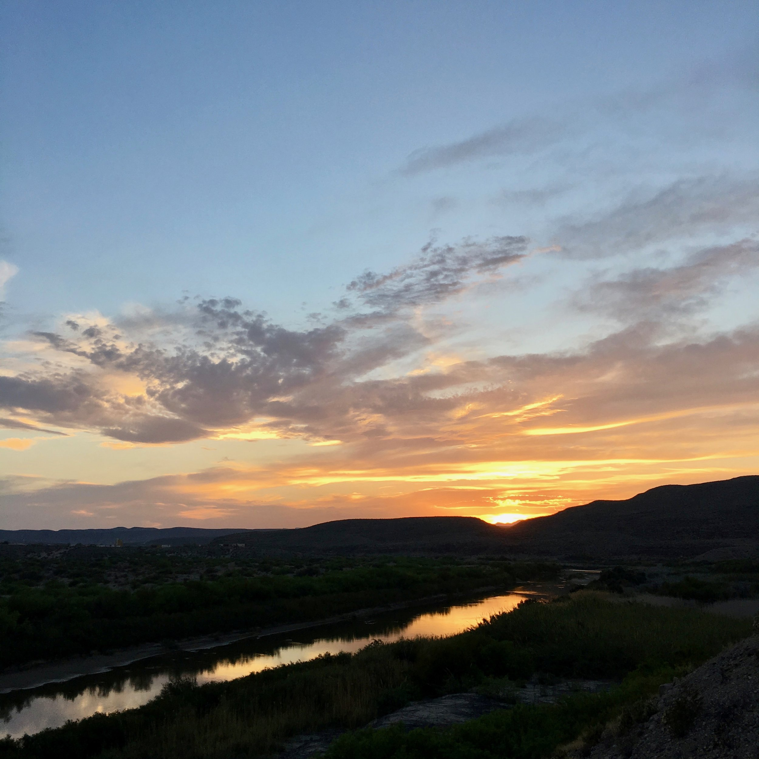 Sunset over The Rio Grande.