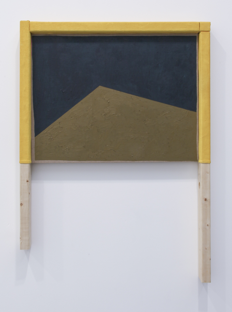 Antecedent, 2011 Wood, canvas and oil on linen 40 x 29 inches