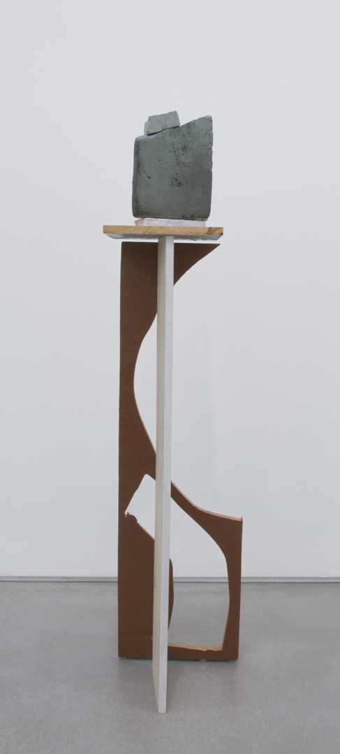 Cut Out Tall, 2011 Wood, foam, oil and acrylic 62 x 12 x 14 inches