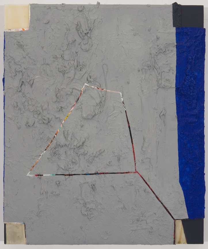Deficit, 2010 Oil, canvas and acrylic on wood panel 20 x 22 inches