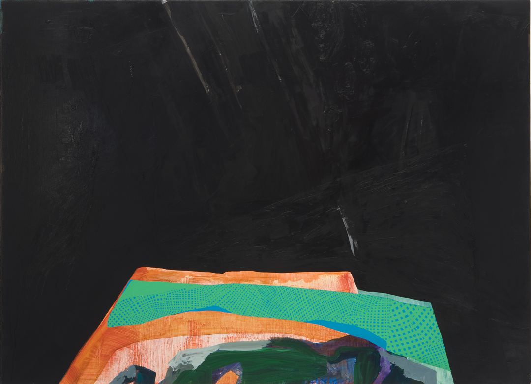 Jitter Clack, 2010 Oil and acrylic on canvas 45 x 62 inches