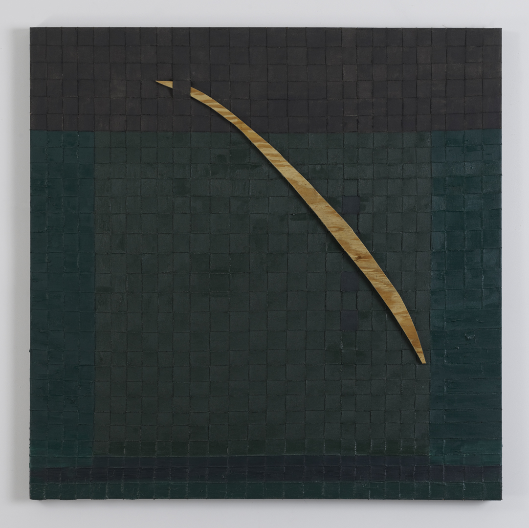 Match, 2012 Oil, canvas and wood 40 x 40 inches