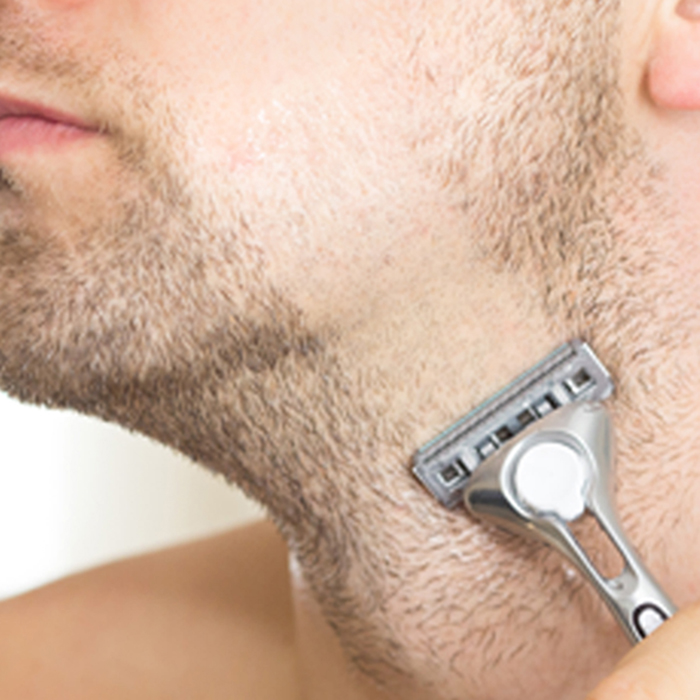 Step 3. Shave! Solid Shave stays clear.