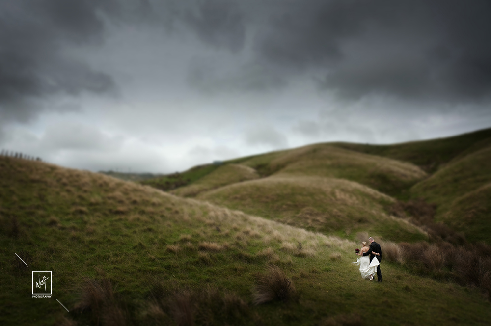 Beautiful wedding photos in the hills of Wellington