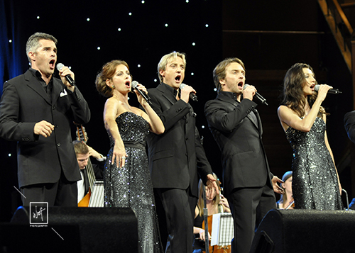 Singers on stage