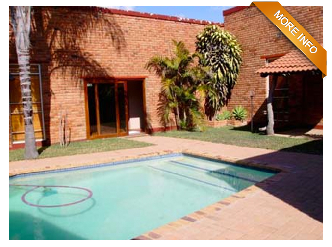 Ref: PT0011 |  21 Ha small holding with easy access to main roads.        Large main home, tiled roof, spacious bedrooms, living rooms and spacious     kitchen with dining area, separate scullery and laundry room. Lovely pool and     thatched lapa with bar. Second home, staff quarters, store rooms. All buildings     separately fenced with electricity. Game includes impala, kudu, blesbuck     and letsjwe.       PRICE: R2 600 000