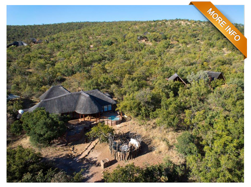 PRM005 | From R3 850 per night   4 Luxurious bedrooms (2 in main home and 2 separate guest cottages, each with private patio & built-in braai.    Open plan kitchen  Separate scullery  Lounge  Dining area  Covered patio with pool    PRICE: R3 850 PER NIGHT (All Season)