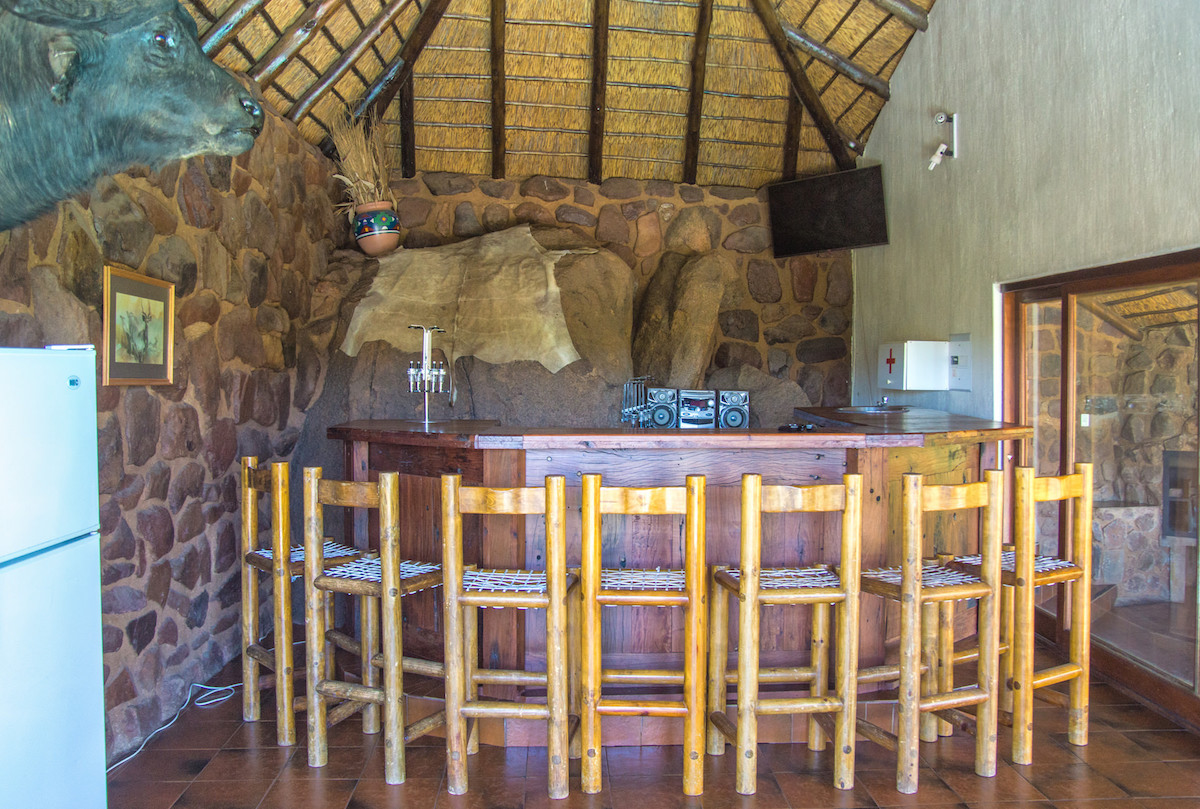 Entertainment area bar