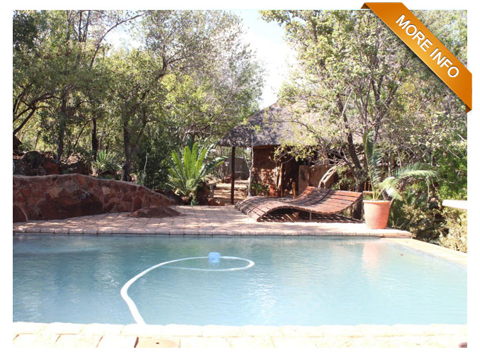 Ref: PT0015 | Own your own Guest Farm!   This 40 ha bushveld property is situated only 40 km from Bela Bela,The farm is developed with game and 3 Guest chalets and manager house.   PRICE:R4 350 000