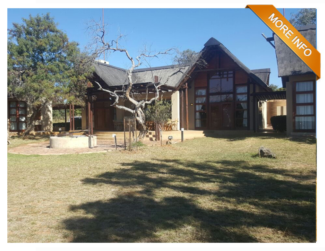 ZEB055  |    ENJOY GOLF ESTATE LIVING TO THE MAX   Living Area  Open plan Kitchen  Scullery  Living Room and Tv Room  Big covered Patio with braai area  Big Boma  4 x ensuite Bedrooms and private patio  Airconditioning  2 x golf carts.  Covered parking for 2 vehicles