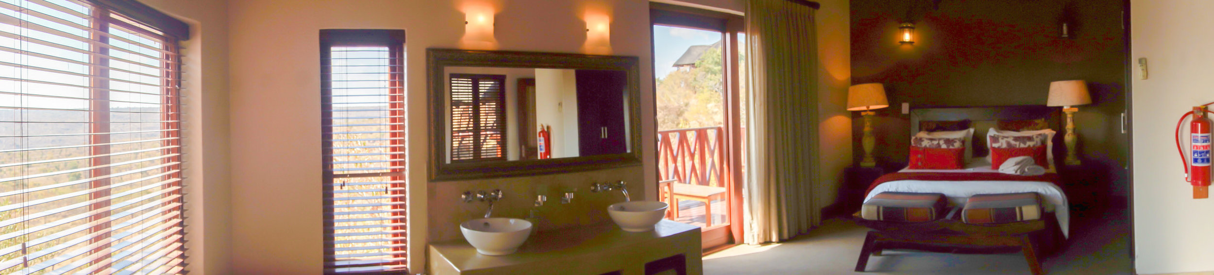 Panorama of Chalet Bedroom