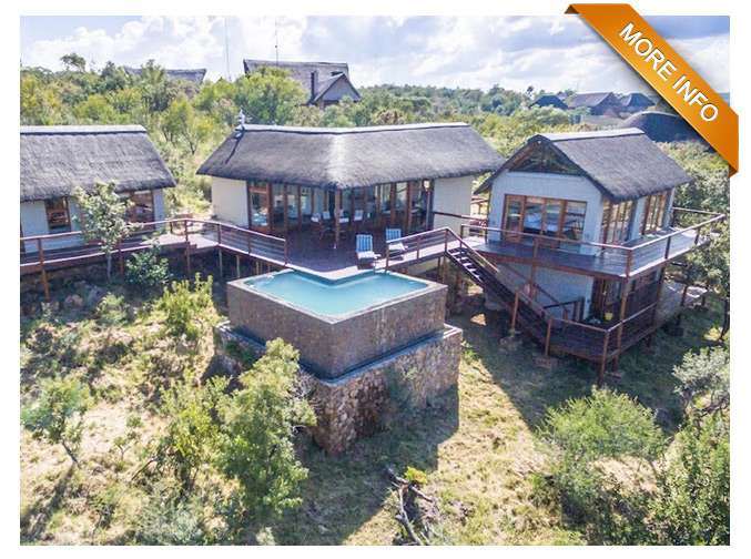 "Ref: PRM078 | DESIGNED FOR OUTDOOR LIVING   3 X bedrooms and 2 and a half bathrooms  Each bedroom opens up onto deck with great views  Spacious open-plan living and dining area leading onto covered entertainment area on deck.  Large pantry  Separate guest toilet.  Large 360 Degree rim-flow swimming pool  Games room with toilet and basin - can be converted into 4th bedroom  Gas Geysers  Covered parking for two vehicles   PRICE PER NIGHT: R3 300 OUT OF SEASON   PRICE PER NIGHT"" R3 900 IN SEASON"