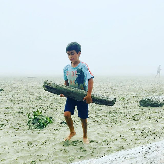 Fog and log. #longbeach #shelter #tofino #ucluelet #vancouverisland #britishcolumbia #canada 🇨🇦❤️