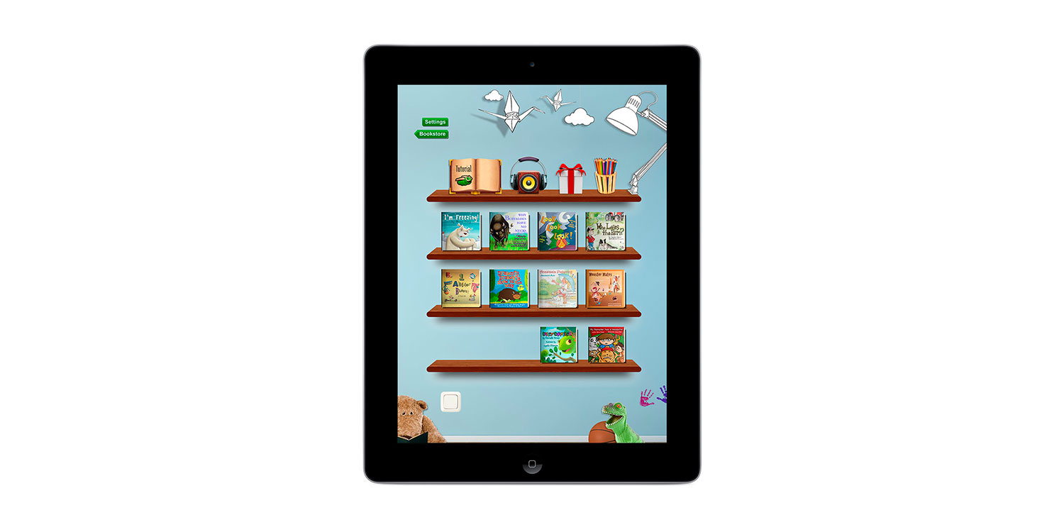 Flying Books Interactive book store platform for kids