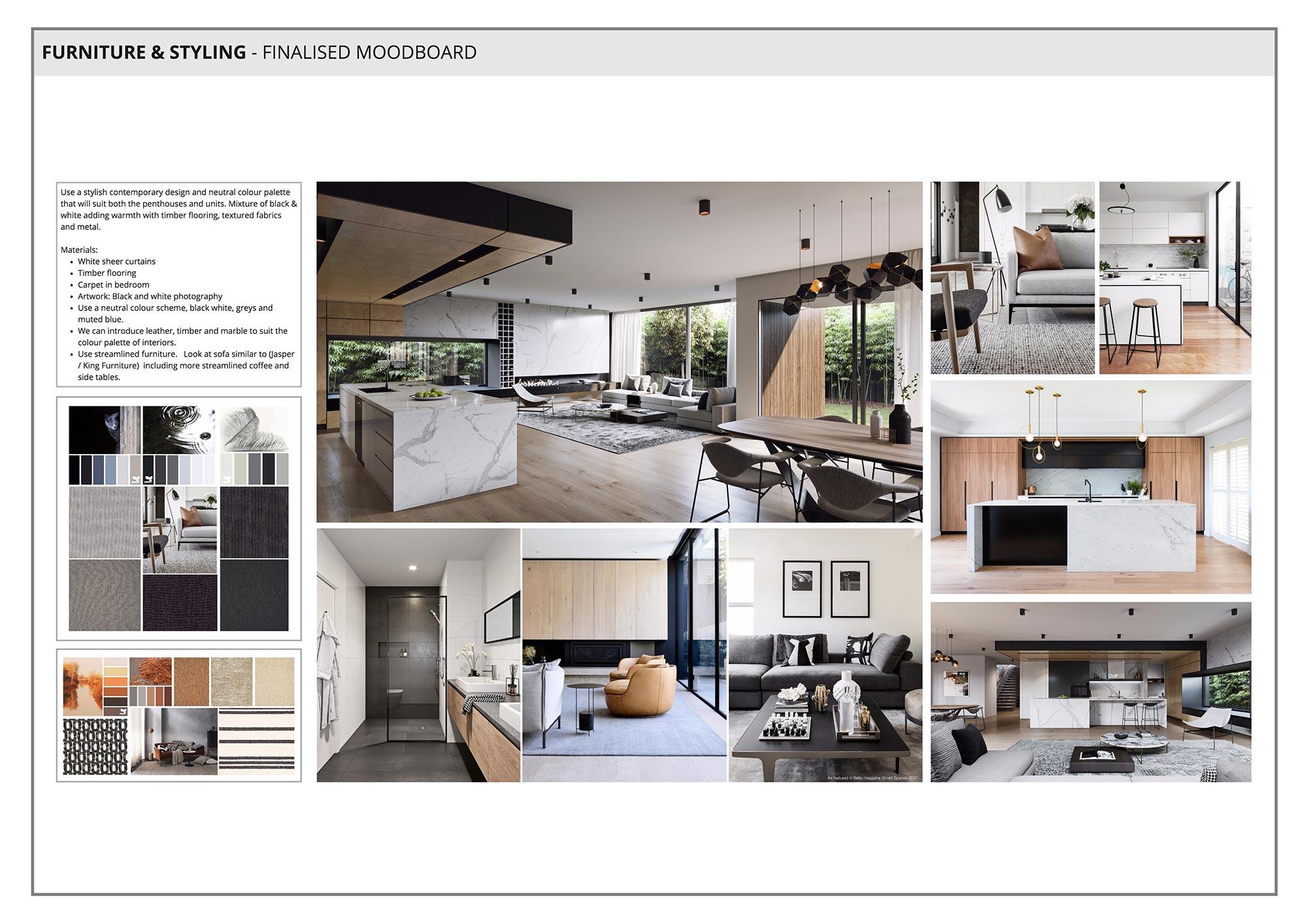 Furniture & Styling Moodboard