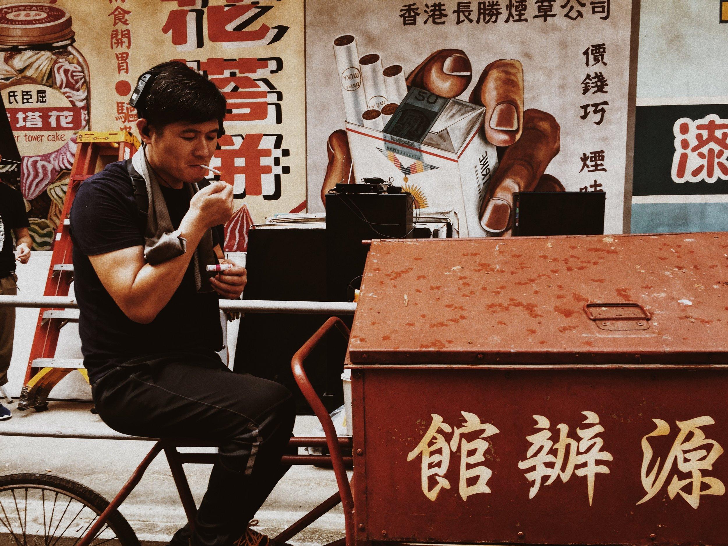 Zhang Yong and his smokes