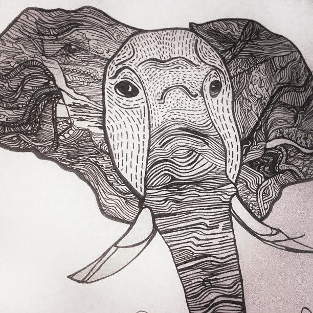 Editorial Illustration for African Landscapes Zine