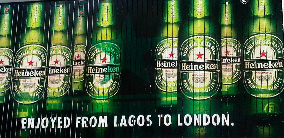 Heineken Billboard in Lagos, Nigeria Play Global, Talk Local Photo © Margherita Trestini © Apodissi 2017