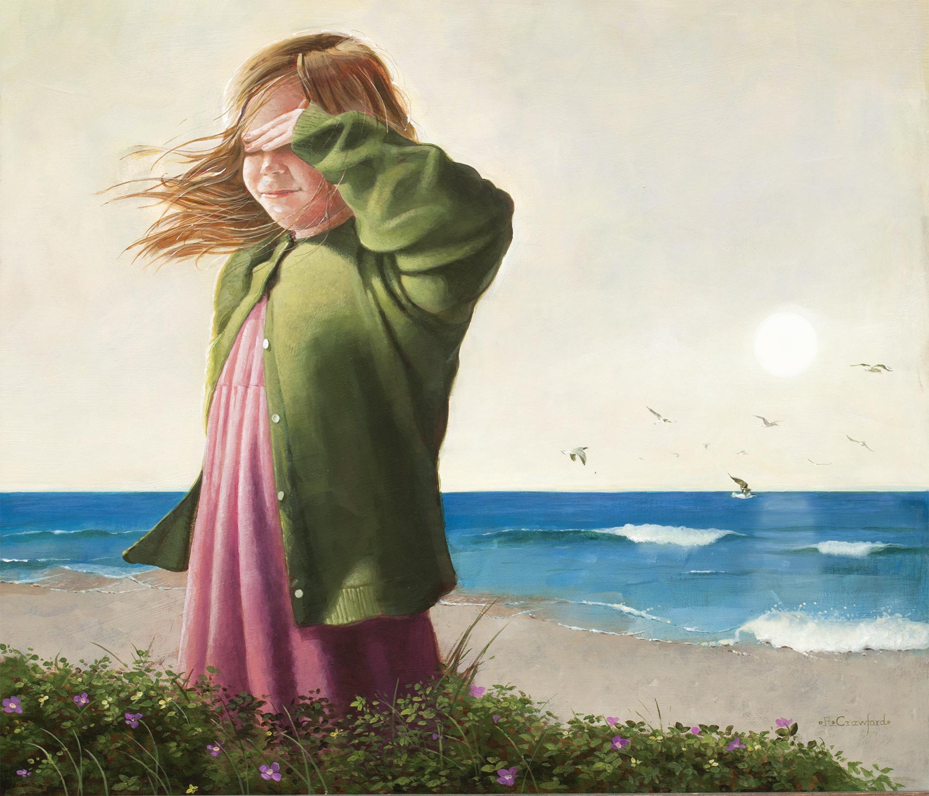 """Sunblind"" acrylic on panel 30 x 30"