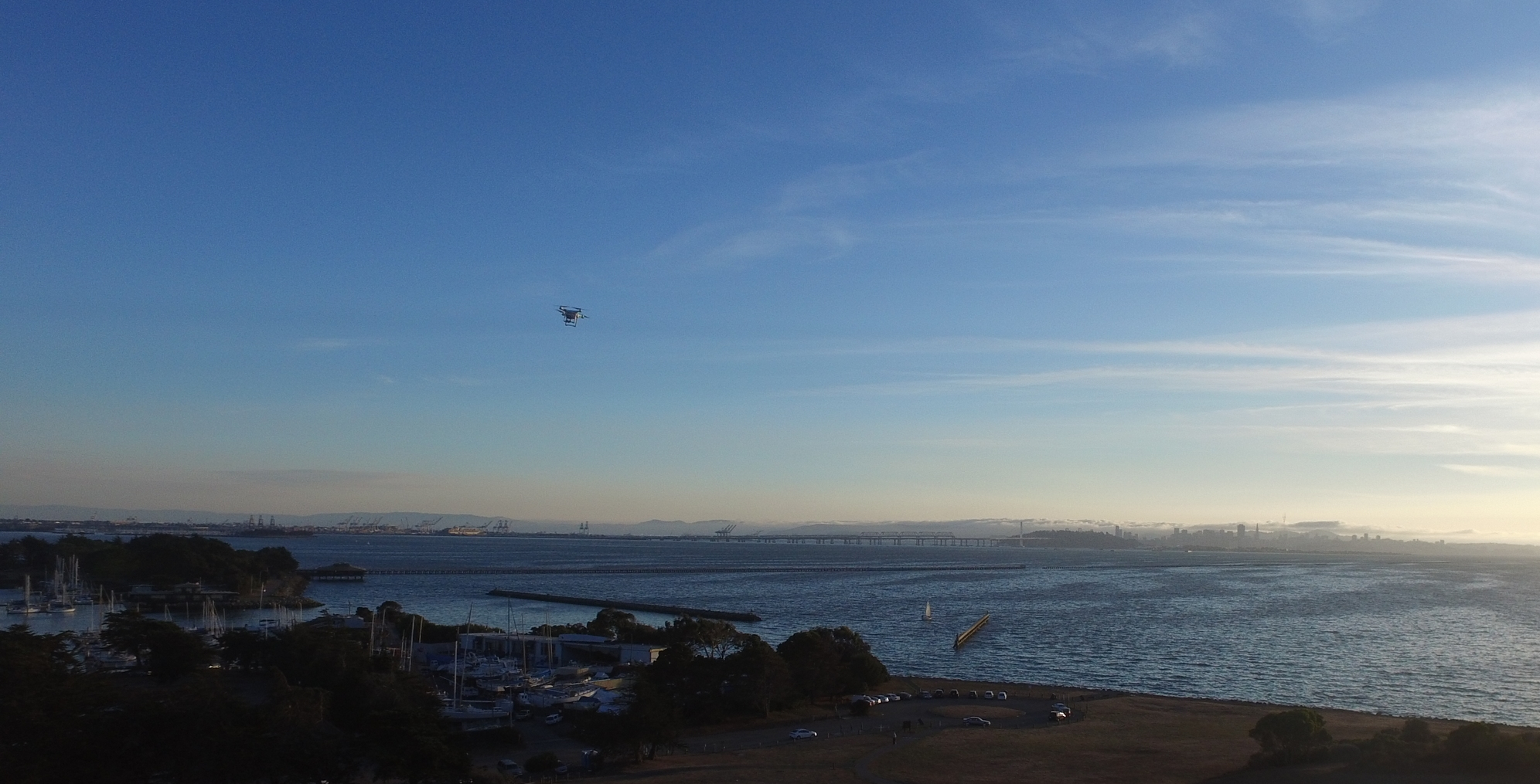 An Unregistered DJI Phantom flies over Oakland, CA on October 16th